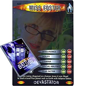Doctor Who Single Card : Devastator 102 (927) Miss Foster Dr Who Battles in Time Rare Card