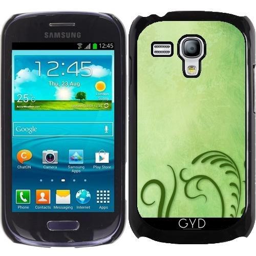 Hülle für Samsung Galaxy S3 Mini (GT-I8190) - Grün Stilisierten Gras by Britta Glodde (S3 Galaxy Unkraut Samsung Fall)