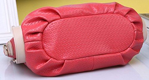 Longzibog Dual verstellbare Schultergurte und Hängeschlaufenband Mode Simple Style Fashion Tote Top Handle Schulter Umhängetasche Satchel Wassermelone Rot