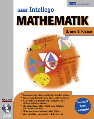 Intellego Mathematik, CD-ROMs : 5. und 6. Klasse, 1 CD-ROM