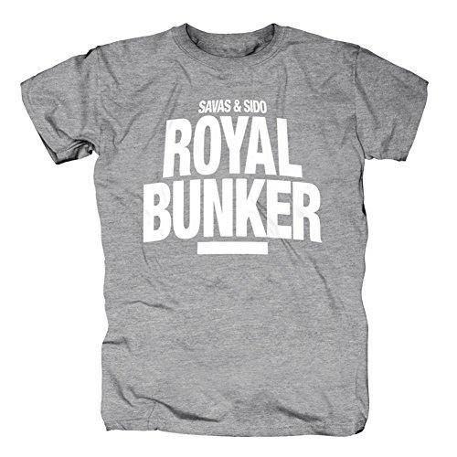Savas & Sido Royal Bunker Logo T-Shirt Grey