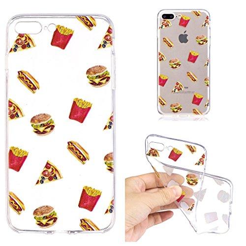 """Hülle für Apple iPhone 7 Plus , IJIA Transparente Einhorn TPU Weich Silikon Stoßkasten Cover Handyhülle Schutzhülle Handytasche Schale Case Tasche für Apple iPhone 7 Plus (5.5"""") (LF8) LF2"""