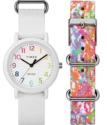 Timex Damen Datum klassisch Quarz Uhr mit Nylon Armband TWG018200