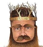 shoperama Goldene Metall Krone mit Bäumen König Königin Wald Halloween Erwachsene Herren Damen