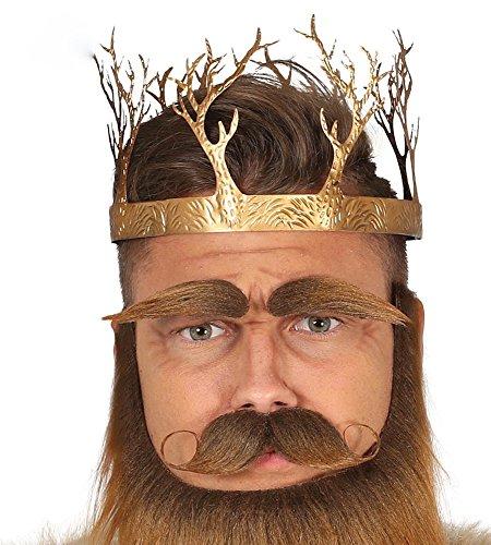 Erwachsene Kostüm Mann Baum Für - shoperama Goldene Metall Krone mit Bäumen König Königin Wald Halloween Erwachsene Herren Damen