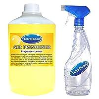 Tetraclean Multipurpose Lemon Fragrance Air Freshener With Free Spray Bottle(1100ml)