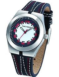 Reloj TIME FORCE de cadete /señora. Acero Correa de piel. Blanco, rojo y negro. TF-2933L04