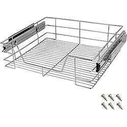 Tiroir télescopique Rangement Armoire Cuisine Réfrigérateur Largeur Meuble 60 cm