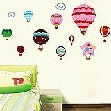 Pegatina Pared Vinilo Decorativo Adhesivo Decoración Infantil Para Dormitorios De Niño Niña Creativo Globos Coloridos
