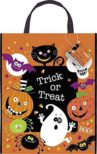 Große Gruseliges Grinsen Halloween Party Kunststoff Tasche, 38 x 30 cm