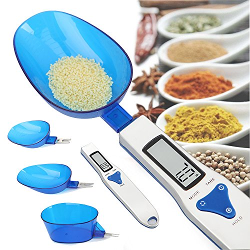 Küchenwaage, Digitale Löffel Waage Küchenmesslöffel mit Großem HD LCD Display Küche Waage Elektronische Waage Spoon Scale für Küche, Präzises Wiegen von 0.1-500GR für Kaffee, Tee, Milchpulver