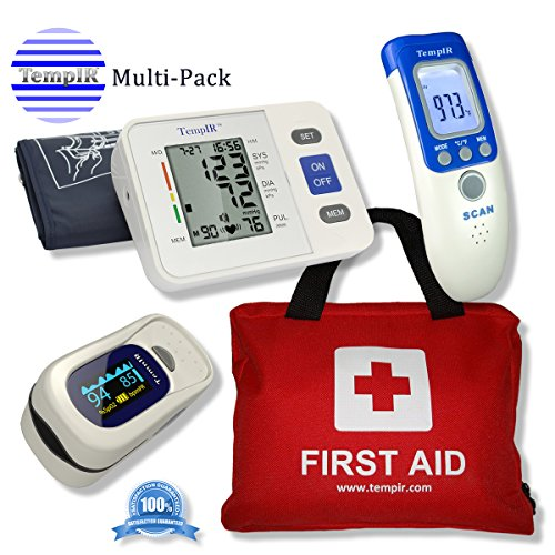 tempir-discounted-multi-pack-first-aid-kit-contains-over-100-items-finger-pulse-oximeter-body-temper