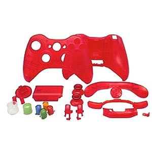 OSTENT Ersatzgehäuse Shell Buttons Kit kompatibel für Microsoft Xbox 360 Wireless Controller – Farbe Rot