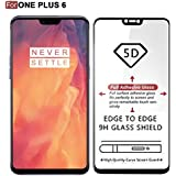 Supershields Premium Quality Full Screen 0.3mm Pro+ [Full Coverage] 9H Hardness Premium Case Friendly [5D Curved] [Bubble Free] [Anti-Scratch] Tempered Glass Screen Protector For One Plus 6 / 1+6 - (Black Edition)