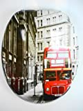 Novelty Pattern Universal fit New York London Design MDF Toilet Seat + Fittings[London]
