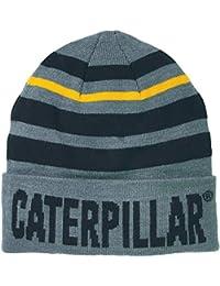 9a70cf11c26 Caterpillar Mens Tumbler Knit Beanie Hat (One Size) (Dark Heather Grey)