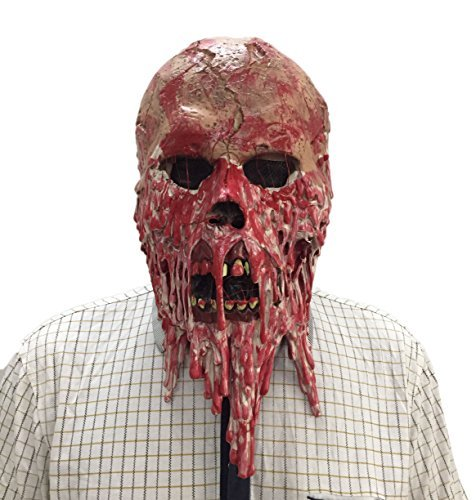 DylunSky New Halloween Calavera sangrienta Máscara de látex Scary Zombie Mask
