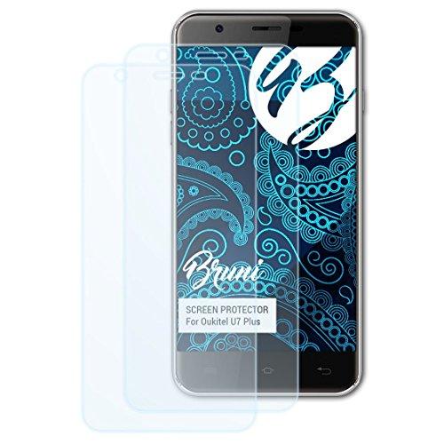 Bruni Schutzfolie kompatibel mit Oukitel U7 Plus Folie, glasklare Bildschirmschutzfolie (2X)