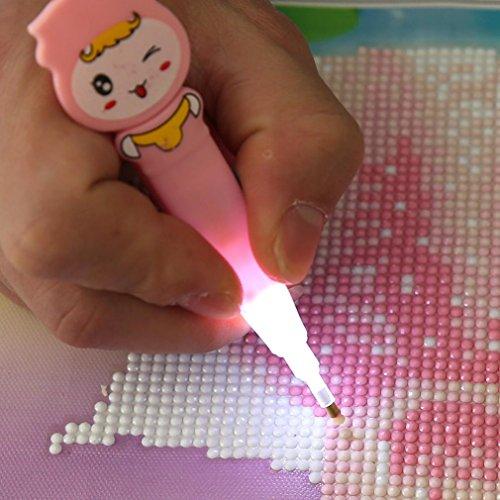 Leuchtstift für Strassstein-/Diamant-Stickerei