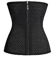 Bingrong Waist Trainer Body Shapers Cincher Sport Workout Girdle Tummy Control Trimmer Shapewear (2XL, Black)