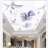 Steaean Personnalisé 3D Papier Peint Plafond Papier Peint Murale Rêve Fleur Plafond 3D Papier Peint, 250 * 175Cm