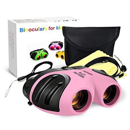 EUTOYZ Geschenke für Mädchen 3-12 Jahre, Kompakt Fernglas Kinder Spielzeug für Mädchen 3-12 Jahre 3-12 Jährige Mädchen Spielzeug Geburtstag Hell-Pink (Für Kinder Jagd-spielzeug)