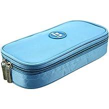 Portátil Diabetes Medical Cool bolsa bolsa de insulina insulina refrigerador bolsa de almacenamiento con 4pcs refrigerante Temperatura muestra, azul claro