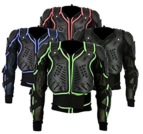 BA-002 | Motocross Motorbike Motorcyle Protection Jacket Body Armour Mountain Cycling Riding Skating Snowboarding Track Crash Guard CE Approved (Black, Medium Chest