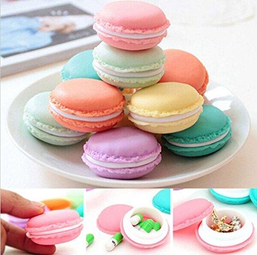 Hengsong Petite Boîte Ecrin De Rangement Forme Macarons Pour Bijoux Collier Multicolor (Large, Rose)