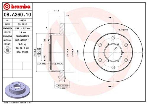 Disque de frein-Brembo 08.a260.10