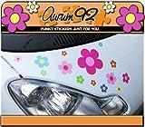 Aurum92 Lot de 30stickers de voiture motif fleurs multicolores