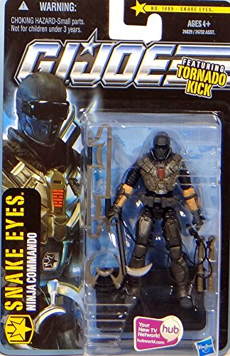 G.I. Joe Snake Eyes with Tornado Kick - Ninja Commando - The Pursuit of Cobra - Actionfigur von Hasbro
