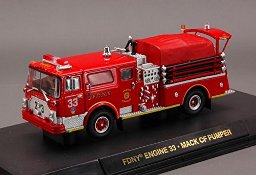CODE 3 COD12582 FIRE RESCUE FDNY ENGINE 33 MACK OF PUMPER 1:64 DIE CAST MODEL (Fdny Engine)
