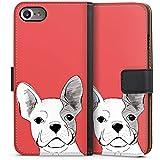 Apple iPhone 7 Tasche Hülle Flip Case Französische Bulldogge Hund Dog