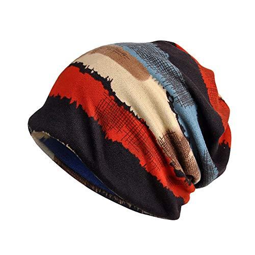 LOLIANNI Mädchen Junge Kopftuch Indien Muslim Stretch Turban Hut Camouflage Print Haarausfall warme Mütze Plus Kaschmir Mütze Hut Stricken Hut männlichen und Weiblichen Haufen Hut