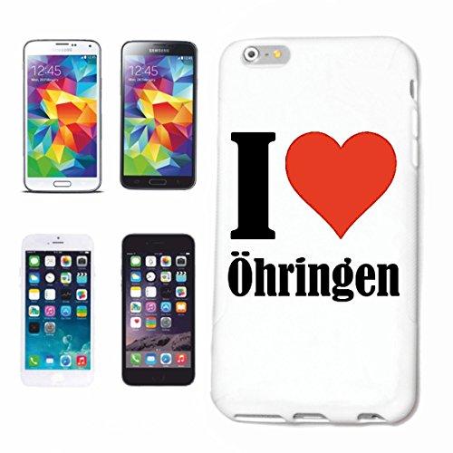 """Handyhülle iPhone 6+ Plus """"I Love Öhringen"""" Hardcase Schutzhülle Handycover Smart Cover für Apple iPhone … in Weiß … Schlank und schön, das ist unser HardCase. Das Case wird mit einem Klick auf deinem Smartphone befestigt"""