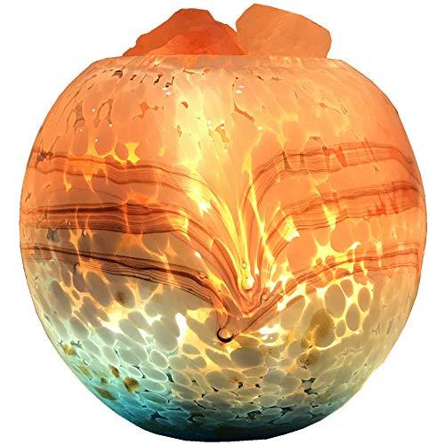 Pang Hu Kristall Steinsalz Lampe/Himalaya Salz Lampe/Schlafzimmer Spa Spa Yoga Raum Schlafzimmer Nachttischlampe/Dimmbare Kristall Salz Lampe/USB Stecker (Raw-kristalle Große)