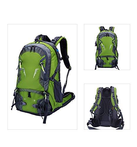 Zaino Da Viaggio Sportivo All'aperto Sportivo Impermeabile Zaino Da Zaino Da Montagna Da Montagna Con Copertura A Pioggia Camping Escursioni,RoseRed Green