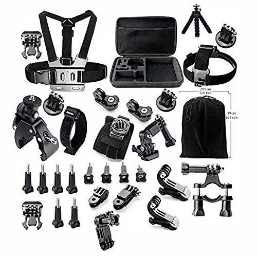 gearmax-petite-famille-noir-kit-daccessoires-pour-gopro-hero-4-3-3-2-1-noire-argent-accessory-set-fo