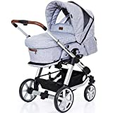 ABC Design 61003603 Turbo 4 Style Kinderwagen und Babyschale 3 in1, Graphite Grey