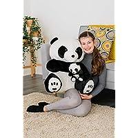 A&R 60CM Panda Teddy Bear Soft Large Plush Cuddly Toy Cosy Lying Enormous Handmade