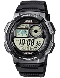 Casio Collection – Herren-Armbanduhr mit Digital-Display und Resin-Armband – AE-1000W-1BVEF