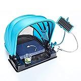 SHPdesign Portabler Schattenspender 3.0 / Solar Powerbank, Ventilator, Getränkehalter, Kissen