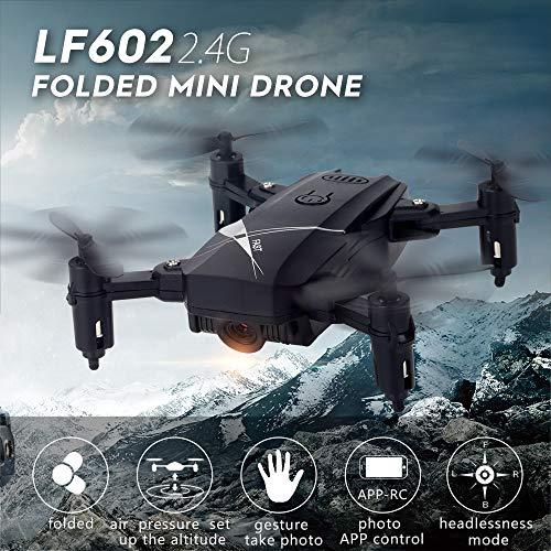 Szeoa Faltbare Drohne, 2,0-Megapixel-Kamera, Fernbedienung, WiFi, FPV, Feste Höhe, 360-Grad-Bildlauf, One-Button-Return, Headless-Modus, Erwachsene Kinder,White,0.3MP