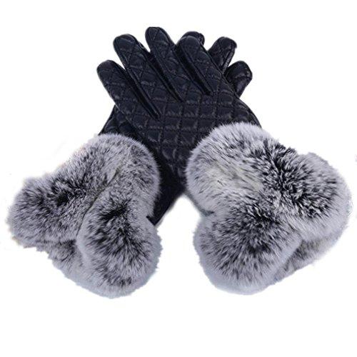 Mme PU Shorthair Gants Mode gants chauds toucher