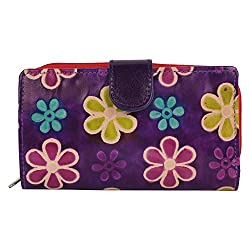 Anekaant Natura Women Genuine Leather Purple Wallet