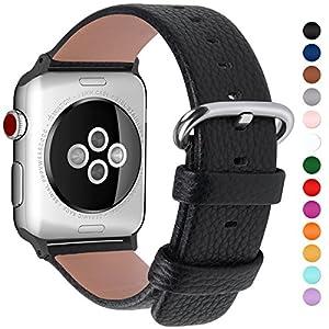 15 colori per Cinturino Apple Watch 38mm,Fullmosa Yan®Pelle Cinturino/Cinturini di Ricambio Apple Watch Band/Strap/Orologio/Bracciale Apple Watch Series 3, iWatch Series 3, Series 2, Series 1, Edizione 2015 2016 2017, Nero