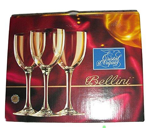 3copas para vino rojo en cristal D 'Arques 24%. 17cm 29cl