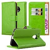 Cadorabo Hülle für Motorola Moto G5 Plus - Hülle in Gras GRÜN – Handyhülle im Luxury Design mit Kartenfach und Standfunktion - Case Cover Schutzhülle Etui Tasche Book