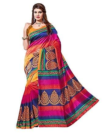 Ramdev Cotton Saree (Rmd Kutchi Multi_Multicolored)